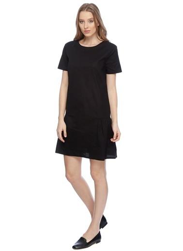T-Box Kısa Kollu Mini Elbise Siyah